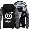 autumn and winter Men's streetwear hooed male Anime Naruto Hooded Coat Thick Zipper Jacket Sweatshirt For Men Clothing jackets