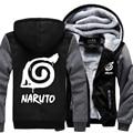 autumn and winter Men's streetwear hooed male Anime Naruto Hooded Coat Thick Zipper Jacket Sweatshirt For Men Clothing jackets