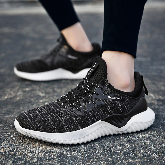 2018 Hot Sale Four Seasons Running Shoes Men Lace-up Athletic Trainers Zapatillas Sports Male Shoes Outdoor Walking Sneakers