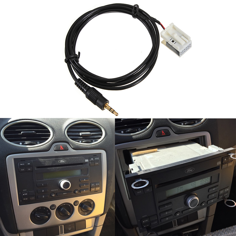 SITAILE 3.5mm 6000 CD AUX In Input Adapter Cables for Ford Focus C MAX  Mondeo Fiesta+Sent Free Radio Removal Keys-in Speaker Line from Automobiles  ...