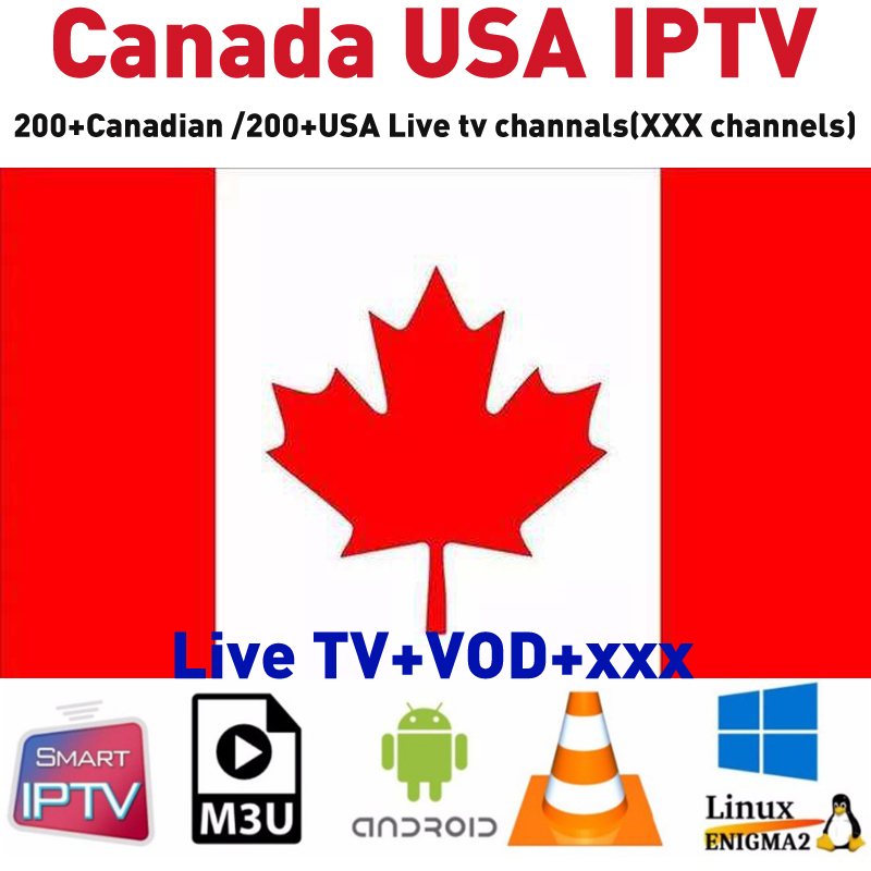 US $26 38 |Full HD 4K Stable Canada IPTV USA English TV Channels Free Test  Canadian United States IP TV Support Android box Smart tv M3U E2-in Set-top