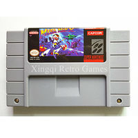 Super Nintendo SFC SNES Game Mega Man X Video Game Cartridge Console Card US English Version