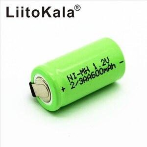 Image 3 - LiitoKala 2/3AA Ni MH Battery AA 1.2V 600mAh Rechargeable Battery With Pins