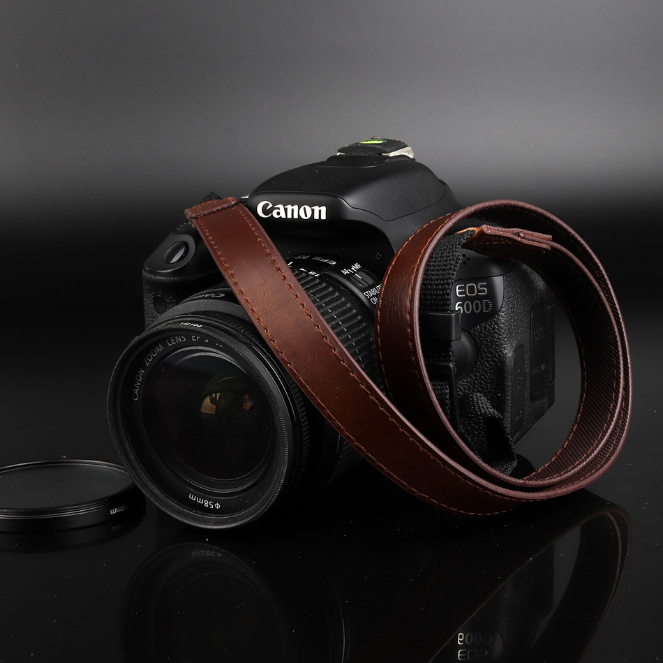 PU Leather Camera Strap Shoulder Neck Belt For Canon PowerShot G1X G1 X Mark III II SX60 SX540 HS G5X G3X G7X G9X II G7XII SX50 95%new lens zoom unit for canon for powershot g1x mark ii g1x 2 g1x2 digital camera repair parts ccd