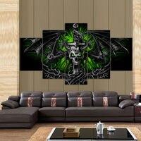 5 painel HD impresso pintura modular bat cópia da lona de arte moderna home decor wall art imagem para sala de estar F0660