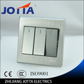 Luxury Wall Switch Panel, Light Switch,3 Gang 3 Way Push Button 16A,110~250V, 220V