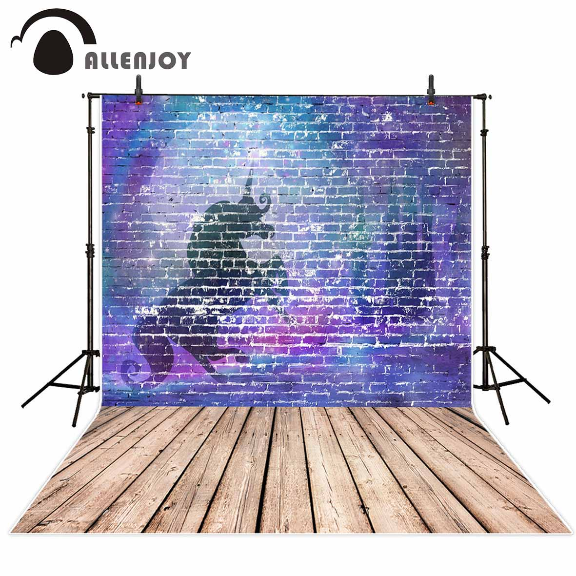 Allenjoy photography background blue purple unicorn brick wall wooden floor background photo studio camera fotografica allenjoy photography backdrops neat wooden structure wooden wall wood brick wall backgrounds for photo studio