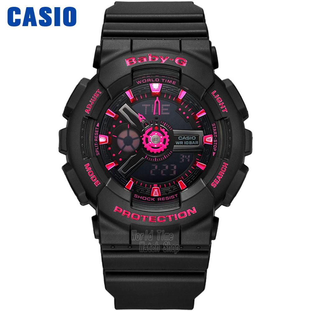 Casio watch  Outdoor sports double show waterproof watch BA-111-1A BA-111-3A BA-111-4A2 0 28 4 digit dc 0 33 00v 0 999 9ma 3a voltage current meter red blue