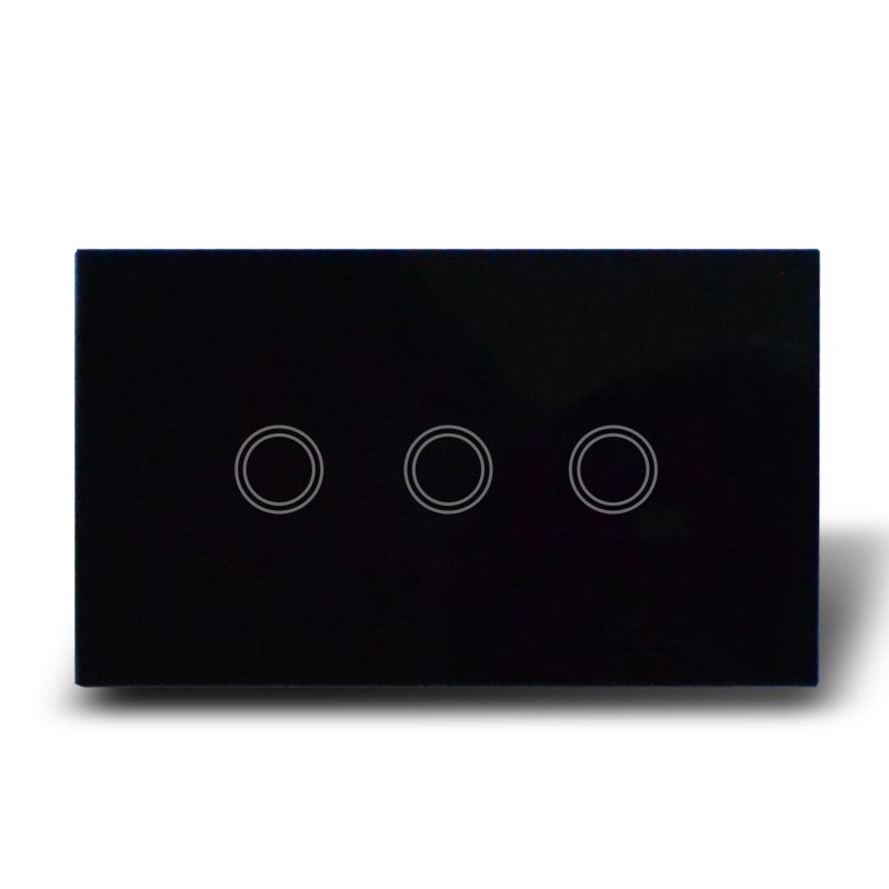 90ebf12da Crystal Waterproof Glass Touch Control Light Switch 3 Gang, Crystal Glass  Panel & Capacitive Touch Sense