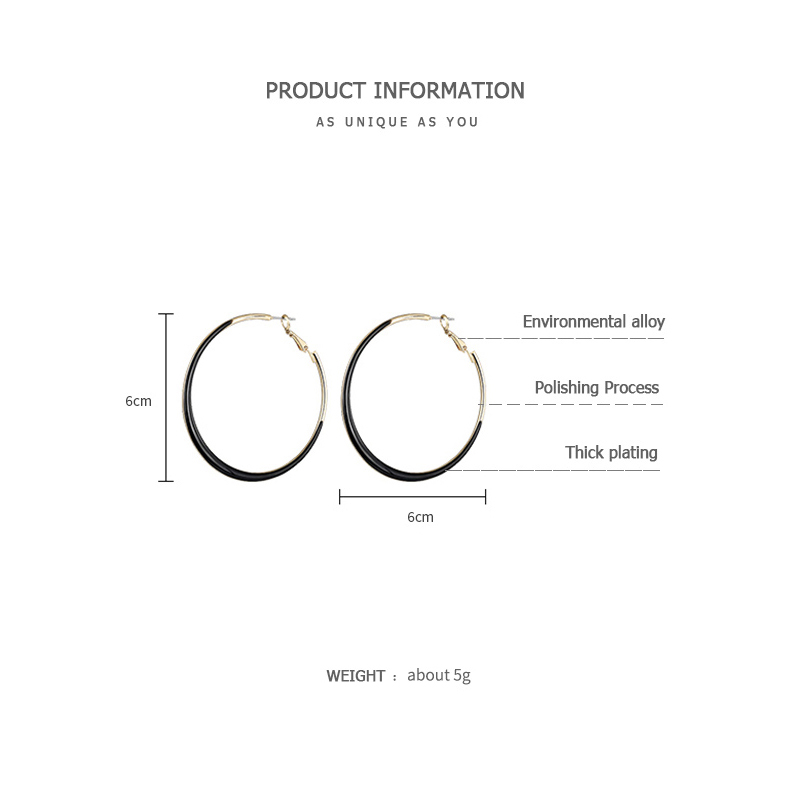 ZEGL big earrings exaggerated earrings for women temperament fashion simple circle ear jewelry in Hoop Earrings from Jewelry Accessories