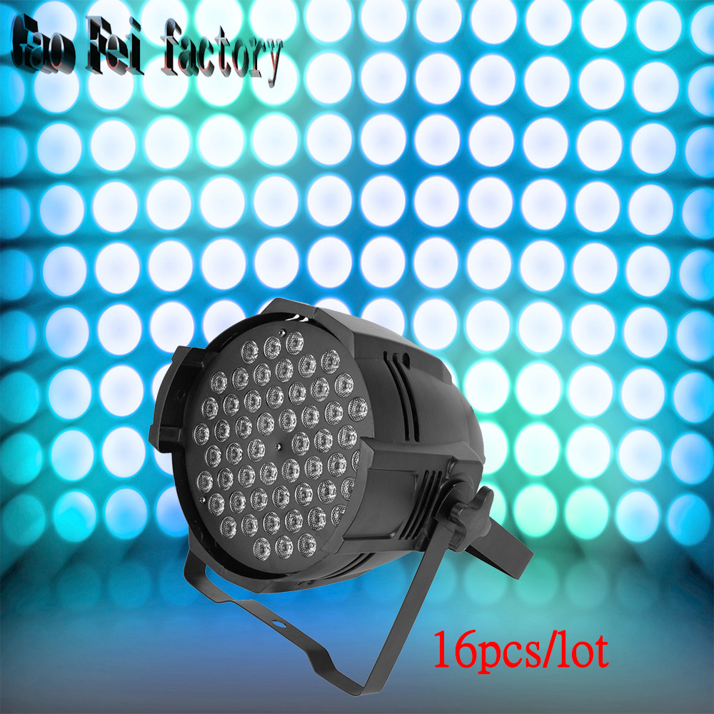 16pcs/lot 54X3W LED PAR light RGBW DMX512 par led disco lights of professional DJ equipment мышь hp z3700 оптическая беспроводная usb белый [v0l80aa]