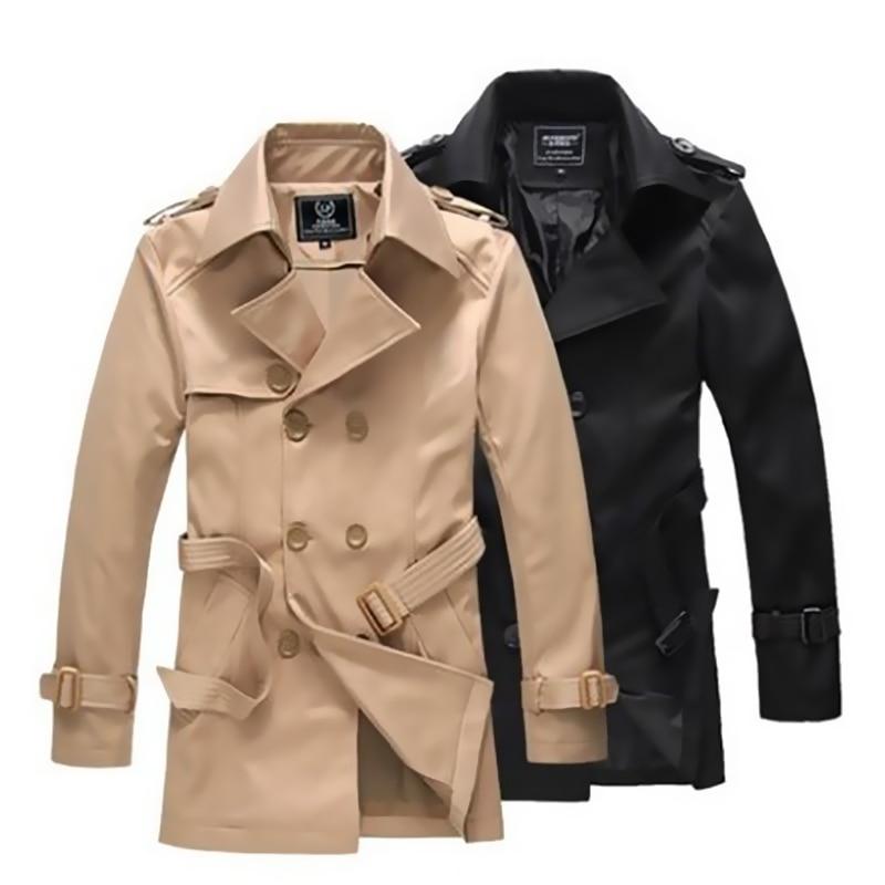 2016 Winter Charm Men Vintage Trench coat Elegant Man Windproof ...