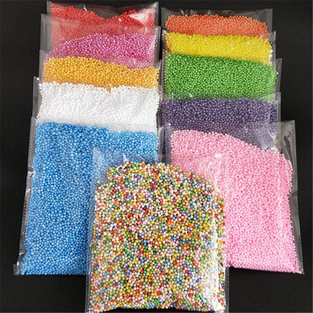 2.5-3.5mm mini colorido bolas de espuma redonda Garrafa De Cristal decoração travesseiro/sofá enchimento bola De Isopor 7000-8000balls cada saco