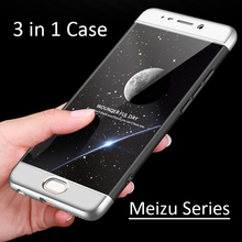 3-in 1 Hybrid 360 Full Cover Hard Case for Meizu M6 Note M5 note M3 note M6S E2 Back Cover Matte Case Meizu M6S M6 Note Protect cheap WeeYRN Fitted Case 3-in 1 Hybrid 360 Full Protection Hard Case Plain Geometric Dirt-resistant Anti-knock for Meizu M6 Note M5 note M3 note M6S E2 Case