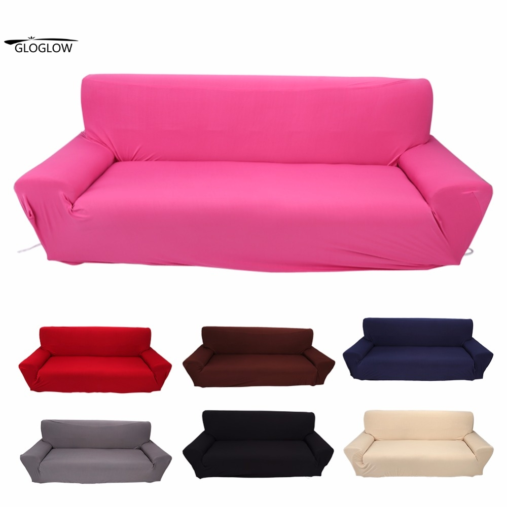 3 Seater Sofa Couch Household Stretch Elastic Sofa Couch Protective  Slipcover Home Furniture Chair 7 Solid