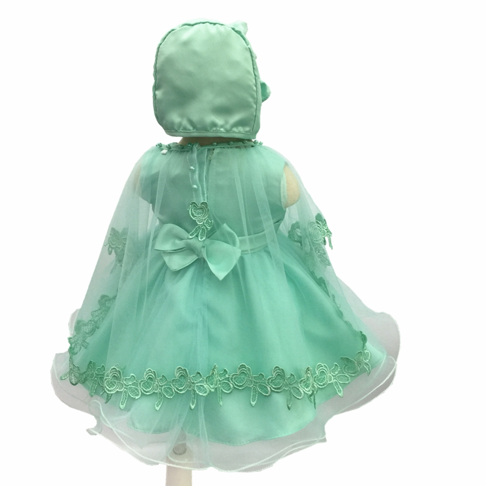 4e662a45d5c7 Free Shipping 3M 18M Cotton Lining Toddler Baptism Dresses 2018 New ...