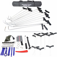 48 pcs PDR King PDR Hook PDR Push Rod Hooks Crowbar Dent Removal Paintless Dent Repair Tools car body dent removal kit