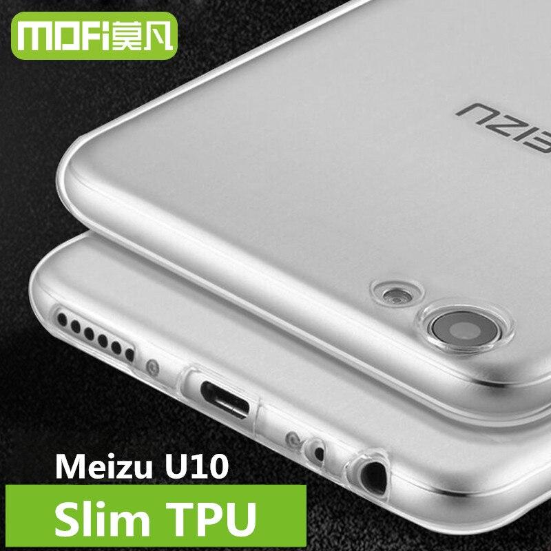 Meizu U10 case cover MOFi original Meilan U10 cover silicon back coque soft TPU phone fundas Meizu U10 case 5.0 inch transparent