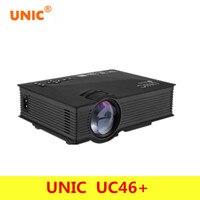 Original UNIC UC46 + Wireless WIFI Mini Beweglicher Projektor 1200 Lumen Voll FÜHRTE Video Heimkino Projektoren Business HDMI Beamer