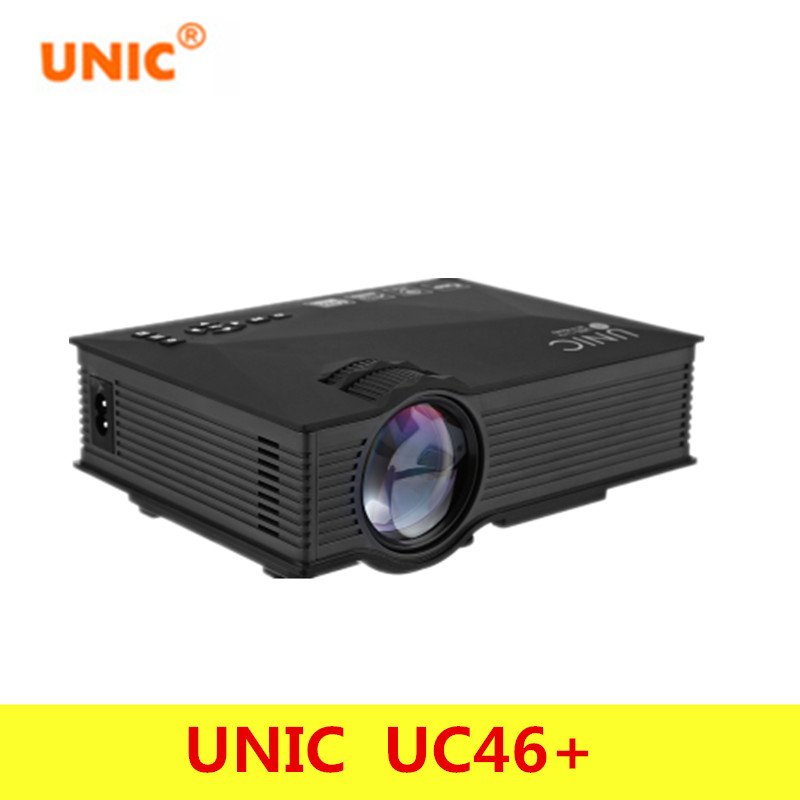 Original UNIC UC46+ Wireless WIFI Mini Portable Projector 1200 Lumen Full LED Video Home Cinema Projectors Business HDMI Beamer portable mini projector home cinema digital smart led projectors support 1080p movie pc video game can use mobile power supply