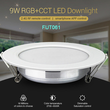 FUT061 9W RGB+CCT LED Downlight Dimmable Ceiling Spotlight AC110V 220V B8/FUT089/FUT092 2.4G Remote Control