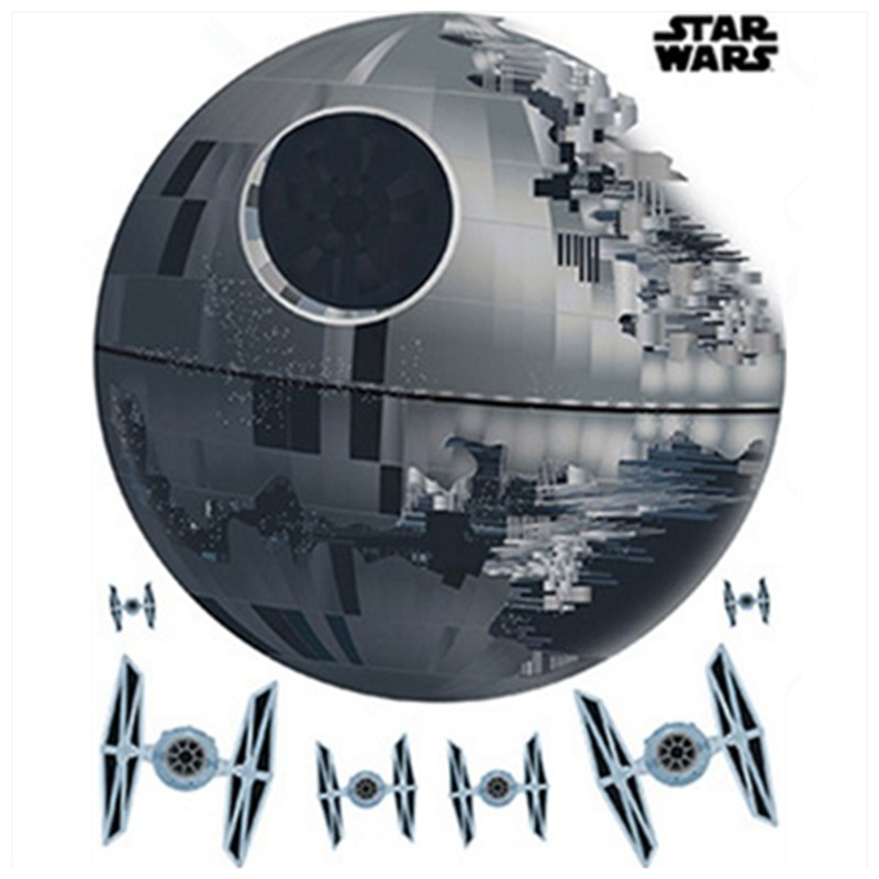 Aliexpress.com : Buy Star Wars movie wall stickers super weapon Death Star vinyl decals home ...
