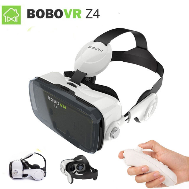 2017 Google cardboard VR BOX 2 XiaoZhai bobo vr z4 Virtual Reality 3D Glasses VR Headset earphone movie + Bluetooth Controller vr goggle foldable virtual reality 3d glasses cardboard