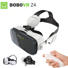 2017 Google cardboard VR коробка 2 xiaozhai Bobo VR Z4 виртуальной реальности 3D Очки VR гарнитура наушники фильм + Bluetooth контроллер