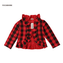 Kids Baby Girl Toddler Ruffle Outwear Cotton Coat Spring Winter Jacket Long Sleeve Clothes Coat 1-5Y(China)