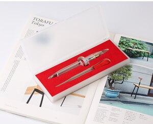 Image 5 - מונמן M2 שקוף עט נובע EF ציפורן מתנת 1.1MM ציפורן כתיבה ספר משרד penna stilografica