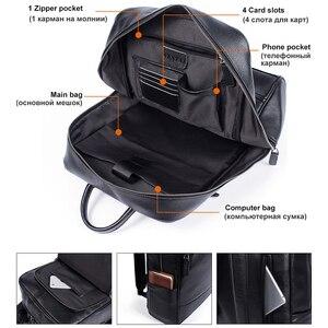 Image 2 - MVA sacs à dos en cuir véritable pour homme, cartable de grande capacité, sac à dos pour ordinateur portable étanche, sac de voyage, sac de jour pour adolescent