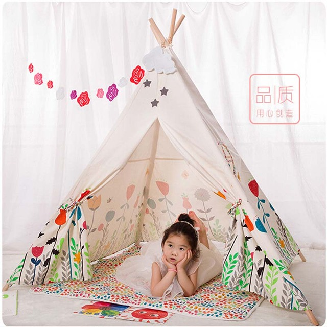 flower kids teepee tent for kids child tent kids play tent Indian Teepee tent  sc 1 st  AliExpress.com & flower kids teepee tent for kids child tent kids play tent Indian ...