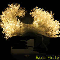 2m 3m 4m 5m 10m 20m LED Fiocco di Neve su Batterie Powered Luci Leggiadramente Della Stringa indoor Outdoor Garland capodanno Festa Di Natale decor