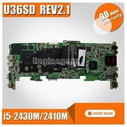 Dla ASUS U36SD U36SG U44SG płyta główna z I5 2430M/2410 M CPU laptopa płyta główna REV 2.1 GT520 1G 100% testowane płyty głównej w Płyty główne od Komputer i biuro na