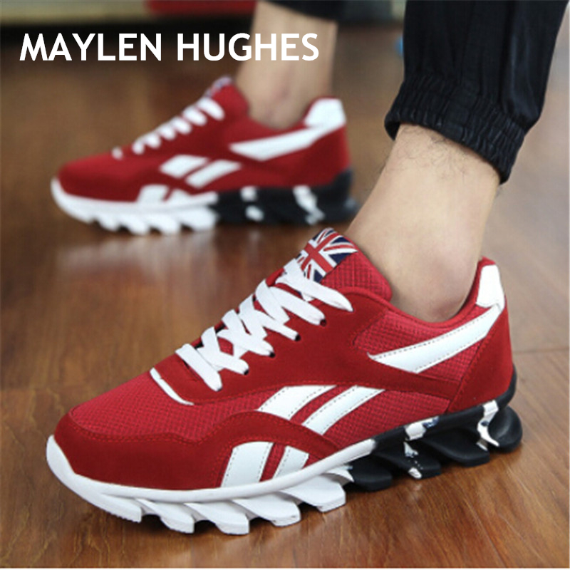 2019 New Spring Autumn Men Running Shoes For Outdoor Comfortable MenTrianers Sneakers Men Sport Shoes(China)