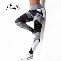 PEONFLY 2017 Women New Brand Fitness Leggings High Waist Slim Work Out Legging Adventure Time Legins