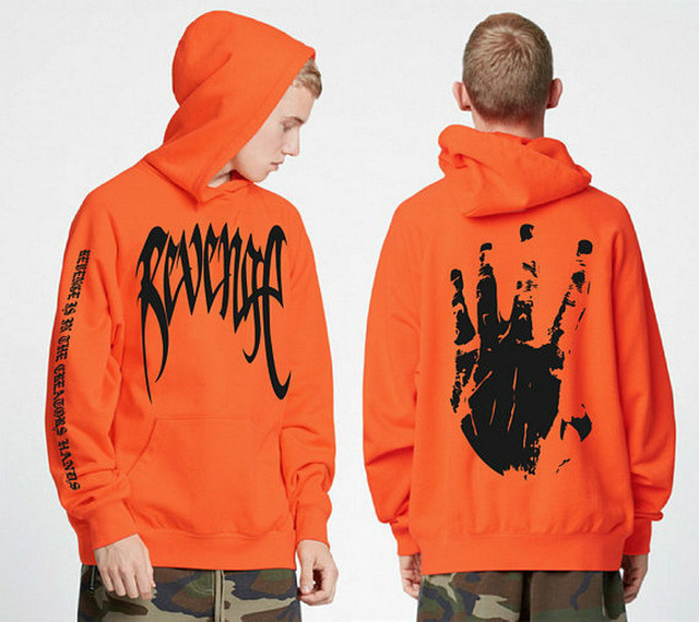 Revenge Hoodies Men Hip Hop Streetwear Pullover Cap Male Sweatshirts Hooded Print Winter Hoddies Street Style Black Hoody Loose