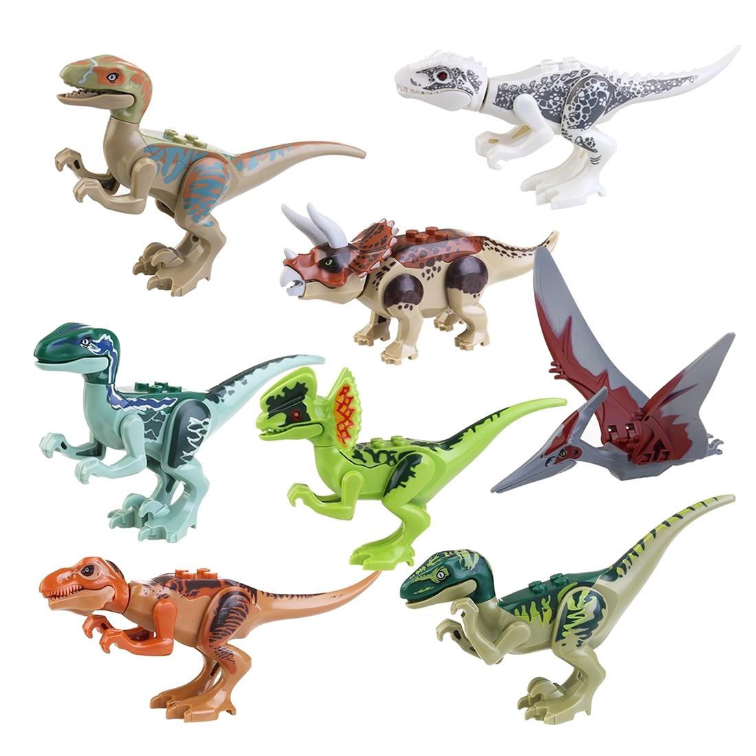 Jurassic Building Blocks Park Dinosaur Toys Jurassic World Dinosaur Toys - 8pcs мастурбатор nano toys nano
