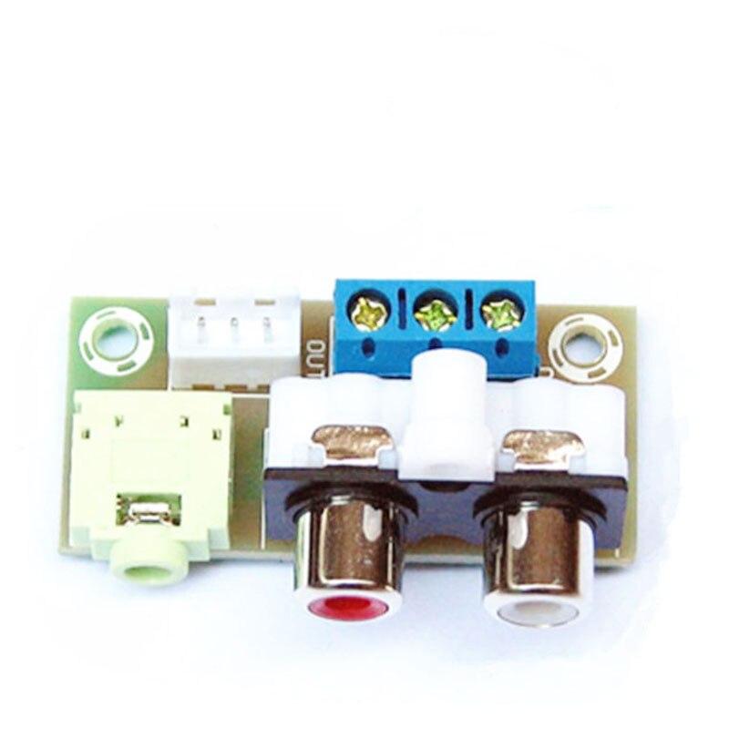 все цены на DIY Kit Audio Switch Board RCA 3.5mm Audio Input Block for Amplifier онлайн