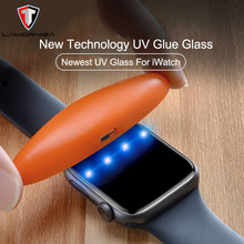 9D UV Glass Nano Liquid For Apple Watch 38mm 42mm 40mm 44mm Screen Protector i 4 3 2 1 Series full Glue Tempered