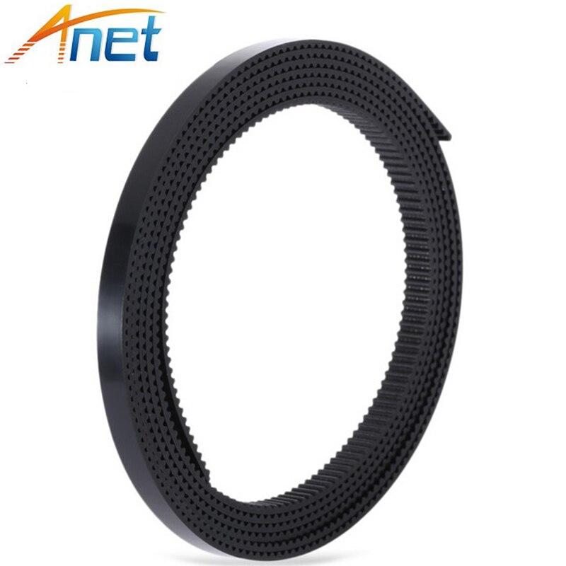 100 Mètres Noir En Caoutchouc Gt2-6mm Calendrier Ouvert Ceinture de Largeur de 6mm GT2 Ceinture pour 3D Imprimante GT2 Poulie A604