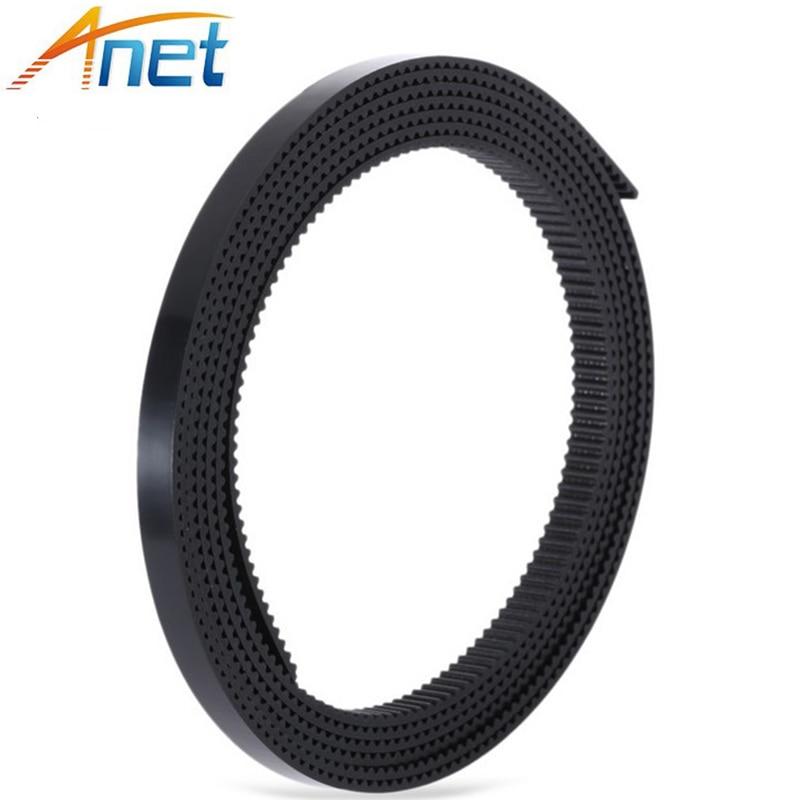 100 Meters Black Rubber GT2-6mm Open Timing Belt Width 6mm GT2 Belt for 3D Printer GT2 Pulley A604 цена