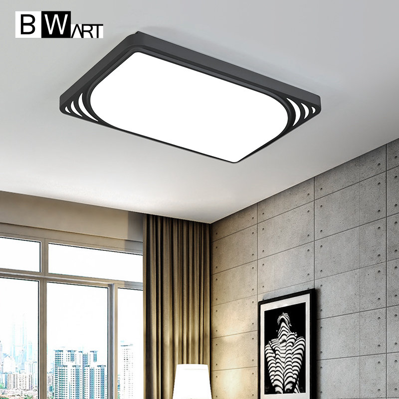 BWART Modern LED ceiling light simple rectangle ceiling fixtures study office dining room balcony bedroom living room lamp ceiling lighting minimalist modern balcony study bedroom lighting led intelligent atmospheric living room dining room