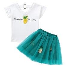 Комплекты одежды для девочек летние модные детские хлопковые