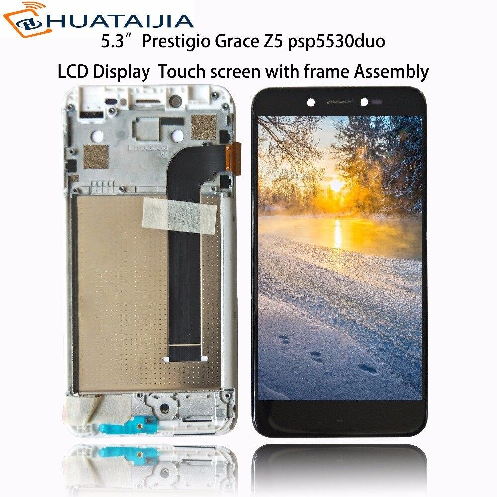 5.3 LCD Affichage Matrice + écran Tactile Pour Prestigio Grâce Z5 psp5530duo psp5530 duo digitizer panneau lentille du capteur Assemblée verre