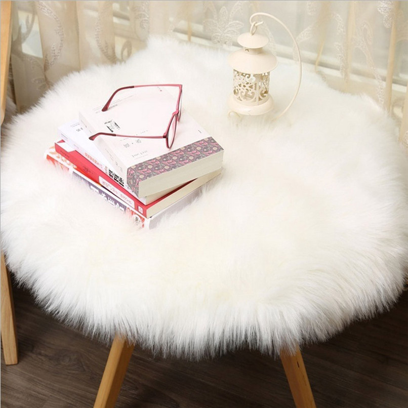 New Arrival Soft Artificial Sheepskin Rug Chair Cover Artificial Wool Warm Hairy Carpet Seat Wholesale Free Shipping 3D#F#