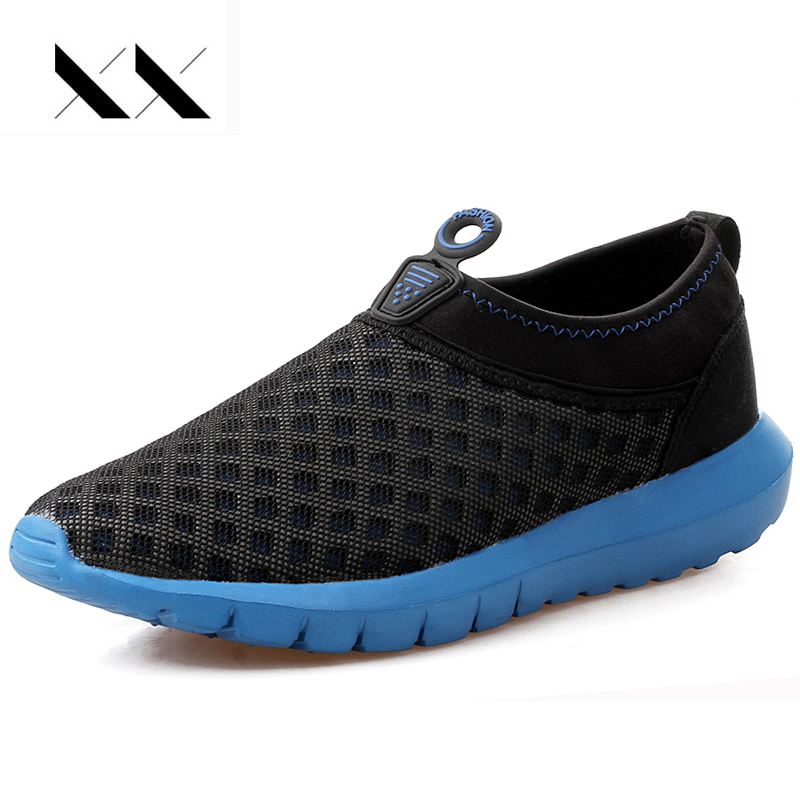 XX 2017 Summer Men Shoes Casual Air Mesh Breathable Slip On Lightweight Loafers Superstar Soft Chaussure Zapatillas Hombre Red pop men outdoor loafers shoes man s slip on flats chaussure brand man soft flat casual shoes footwear zapatillas hombre xk080514
