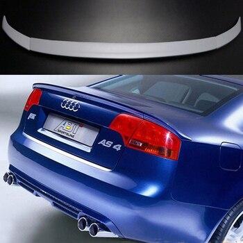 For Audi A4 B7 2005 2006 2007 2008 Car Decoration PU Material Primer Unpainted Color Rear Trunk Spoiler