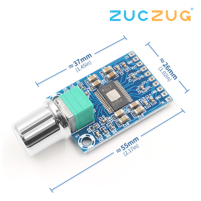 High Power Micro Digital Power Amplifier Board, TPA3116D2 Chip, Dual 50W, High Definition Sound, 12-24V
