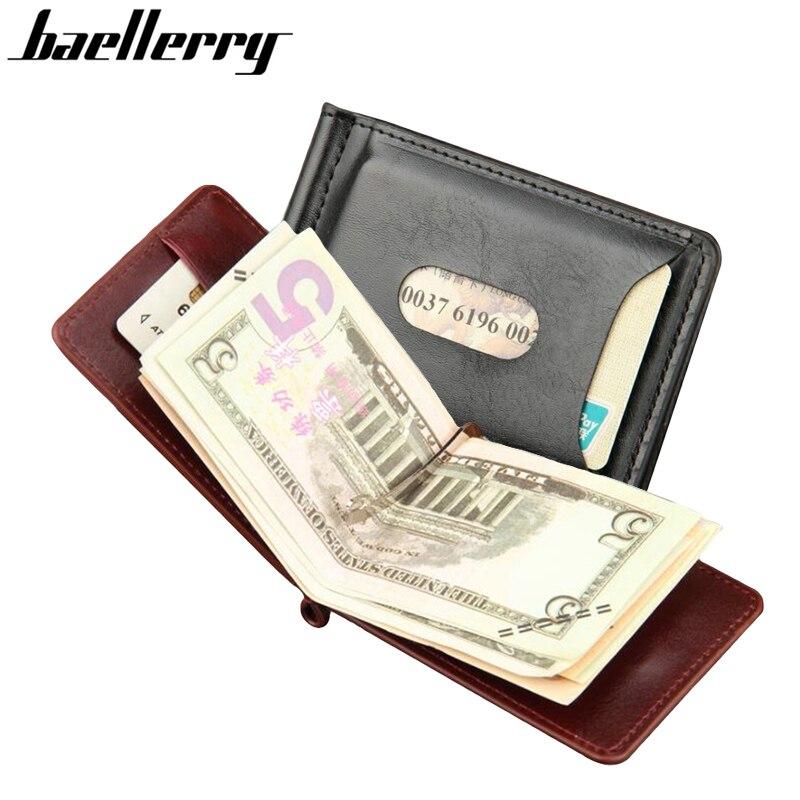 check-out 7fccd 37150 US $4.8 27% di SCONTO|Baellerry Mini Clip Dei Soldi del Cuoio degli uomini  Portafoglio Con Tasca Portamonete Sottile Della Borsa Per L'uomo Magnete ...